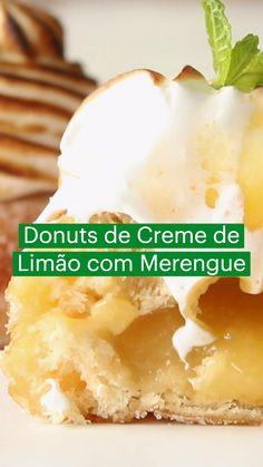Lemon Recipes, Donut Recipes, Sweet Recipes, Baking Recipes, Just Desserts, Delicious Desserts, Dessert Recipes, Yummy Food, Donuts