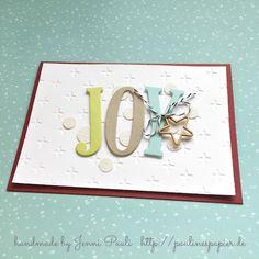 Stampin'Up! BigShot Buchstaben Weihnachten