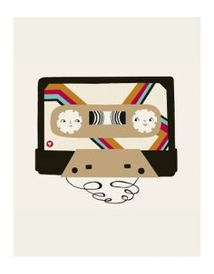 Mix Tape - 8x10 Print. $20.00, via Etsy, laura berger.