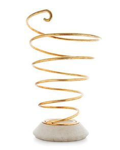 Spiral umbrella stand by BeeLine Home; beelinehome.com.