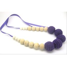 Buy Love Crochet Art  Necklace with wooden bead Nursing Teething Necklace Handmade - Blue by Love Crochet Art, on Paytm, Price: Rs.299