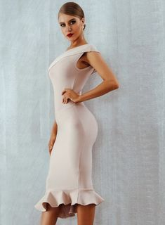 One Shoulder Bodycon Dress Midi Bandage Dress Suitable for any occasion such as an evening party, bi Bodycon Dress Formal, Cheap Dresses Online, Clubwear Dresses, Event Dresses, Celebrity Dresses, Classy Dress, Pretty Dresses, Ideias Fashion, Party Dress