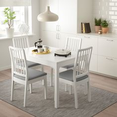 Chairs With Casters Kitchen Referral: 5668323600 Table Ikea, Table And Chairs, Cafe Chairs, Chaise Ikea, Dining Area, Dining Table, Dining Chairs, Ikea Ps 2014, Gray
