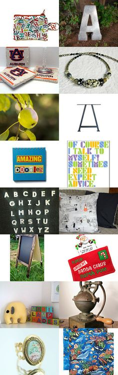 This Treasury brought to you by the letter A by scott busbee on Etsy--Pinned with TreasuryPin.com