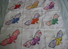 c1930 Vintage Applique Butterfly