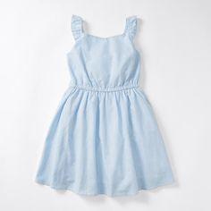 Ruffle Back Stripe Dress