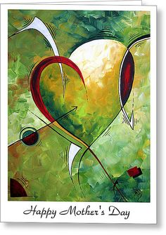 Happy Mother's Day By Madart Greeting Card by Megan Duncanson