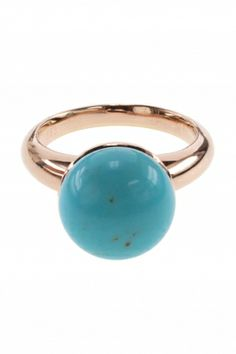 rose gold #turquoise #ring I designed for NEW ONE I NEWONE-SHOP.COM