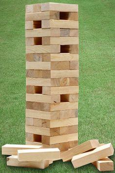 1.2m GIANT WOODEN TUMBLING JENGA TOWER BLOCKS GARDEN GAME OUTDOOR FAMILY FUN