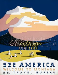 PrintCollection - See America Welcome to Montana, by Halls