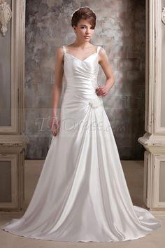 Amazing A-Line V-Neck Floor-length Pick-ups Vintage Daria's Wedding Dress