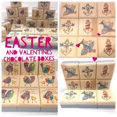 Mudlarks and Magpies: Chocolate boxes for Easter and Valentines Day