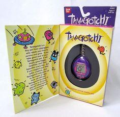 Bandai TamaGotchi Original Red Purple & Yellow Button 1996 English Un-Used Giga Pet, Wish Board, Purple Yellow, Blue, Orange, Bright Green, Virtual Pet, Retro Video Games, Need Love