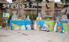"""Διακόσμηση """"Τα ζώα της ζούγκλας""""   Studio 57 Christening Decorations, Album, Children, Young Children, Boys, Baptism Decorations, Kids, Child, Kids Part"""