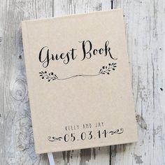 Wedding Guest Book Wedding Guestbook Custom di starboardpress