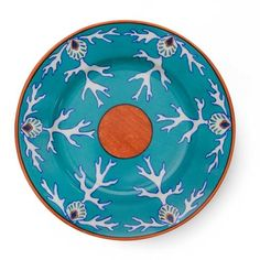 Lagon porcelain by Alberto Pinto is the vibrant turquoise of the sea. It sets a table in the anticipation of the catch of the day. You can almost hear the music drifting from the islands. Delft, Scully And Scully, Plate Presentation, Fish Plate, Objet D'art, Coral Turquoise, Paris, Dinner Plates, Decoration