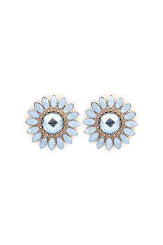 Niva Blossom Earrings in Prussian Blue