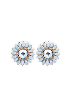Niva Blossom Earrings in Prussian Blue
