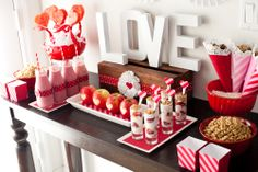 spread for kid's valentines day party