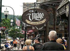 """Gatlinburg, Tennessee Series, #2... A Quaint Little Shopping Mall"" by Bob Hall | Redbubble"