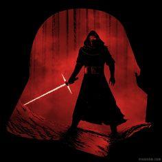 A New Dark Force - Kylo Ren Shirt at shirtpunch.com  Star Wars, Darth Vader, The Force Awakens
