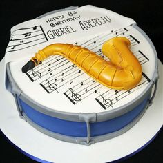 saxophone jazz cake - Google Search