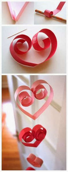 Paper heart garland | Photo Place