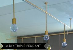 DIY brass pendant lights
