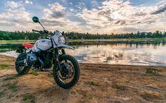 Download wallpapers BMW R nineT Urban GS, 4k, 2017 bikes, new Urban GS, german motorcycles, offroad, BMW
