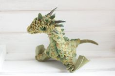 Use as Monster for Miniatures in RPG Games --- Felt Dragons By Russian Artist Alena Bobrova