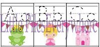 Little Piles Everywhere: ABC Princess Trace Cards