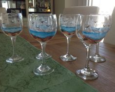 Custom made beer mugs and wine glasses  by EyeCandyForTheHome, $8.00