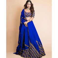 Georgette embroidered wedding lehenga choli