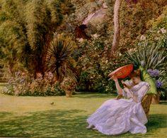 Poynter, Sir Edward John (b,1836)- In Garden, 1891 -2d