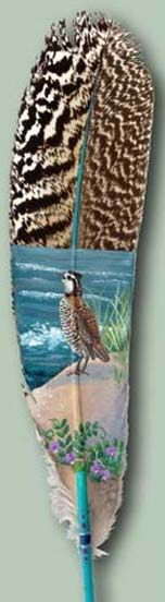 paintings on feather