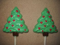 1 Dog Safe Chocolate gourmet christmas heart tree Rawhide lollipop Lollipops #castlerockchocolatessapphirechocolates