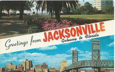 Postcard - Jacksonville, Florida - Postmarked 1959