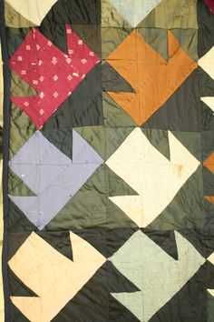 """Crazy Quilt"" made up of many different scraps of fabric. ""T"" pattern - T referring to the Temperance Movement. Quilt is dated between Temperance Movement, Photo Buttons, Search People, Online Collections, Museum Collection, Fabric Scraps, Quilt Making, Objects, Quilts"