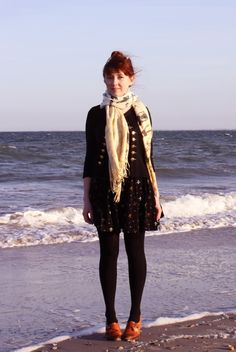 Rebecca of the Clothes Horse - scarf and trashy diva dress