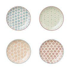 Bloomingville Emma 14cm Plates, Assorted, Set of 4