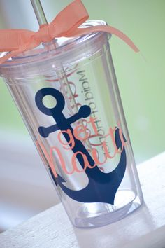Bachelorette Party Get Nauti Tumbler by AnchorAvenueDesigns Bachelorette Cruise, Nautical Bachelorette Party, Bachlorette Party, Bachelorette Ideas, Anchor Wedding, Nautical Wedding, Diy Wedding, Dream Wedding, Wedding Ideas
