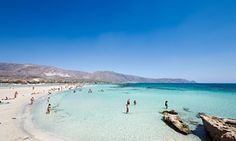 Elafonisi beach in Crete, Greece