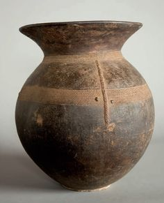 Africa | Vessel for water or beer millet. Senufo - Ivory Coast