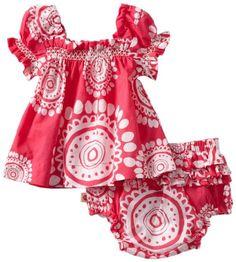 Amazon.com: Hatley - Baby Girls Infant Voile Dress with Bloomer, Mandala Pink…