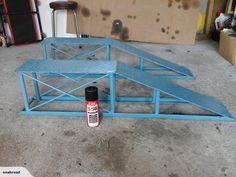 CAR RAMPS | Trade Me Garage Tools, Garage Shop, Diy Car Ramps, Loading Ramps, Mechanic Tools, Diy Tools, Welding, Trailers, Motors