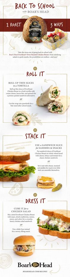 From satisfying sandwiches to snacks and wraps, take the stress out of going back to school with this lunch inspiration! Sponsored by @boarshead.