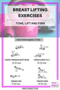 Four effective exercises to lift, firm and tone your breasts. Hands up who would like a free breast lift?
