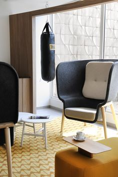 Pod chair at Nancy Ouest Hotel