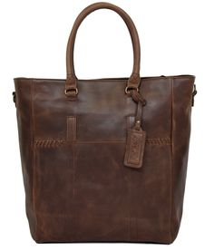 Jinger Jack – 100% Leather Berlin Tote (Waxy Brown)