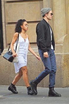 Robert Pattinson et FKA Twigs dans le quartier de Soho à New York, 2015